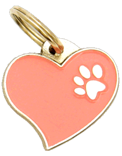 HEART PINK - pet ID tag, dog ID tags, pet tags, personalized pet tags MjavHov - engraved pet tags online